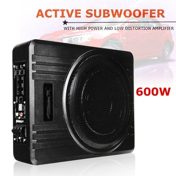 KROAK Universal 10 600W Slim Under-Seat Powered CarTruck Subwoofer Amplifier Amp Super Bass subwoofer