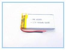 Lítio para Dvr o Envio Gratuito de 3.7 V 1000 Mah 452855 Plib; Polímero de Íon Lítio e bateria Iões Gps Mp3 Mp4 Telefone Celular Celular Speaker