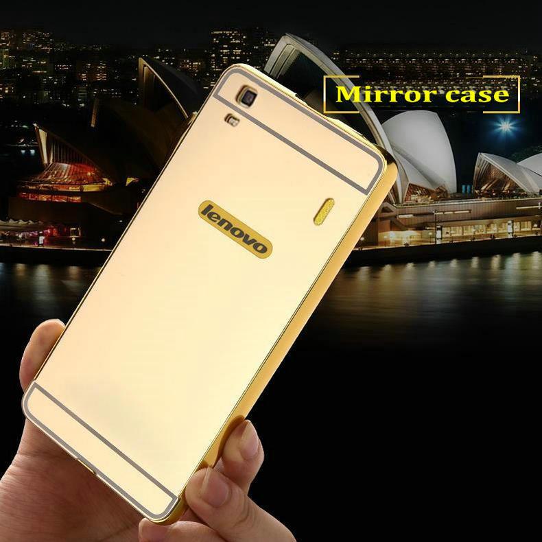 free shipping 27515 cd4a2 US $3.99 |For Lenovo A7000 Phone Case Mirror Back Cover & Aluminum Metal  Frame Set Hot Phone Housing For Lenovo Lemon K3 Note 5.5