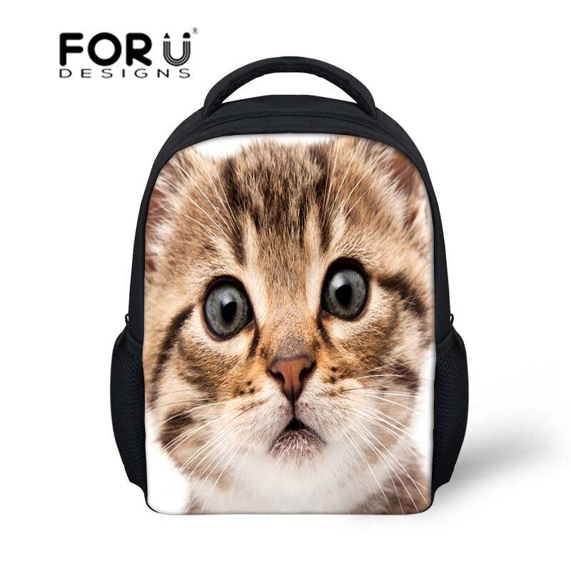Meninas encantadoras pequeno 12 polegada mochila escolar bolsas Bull Dog  Cat impressão moda mochilas mochilas jardim de infância do bebê sacos de  viagem 7c9d9d5ffd623