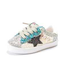 CRONE 2018 Fashion Children Shoes Girls Boys Casual Shoes Shiny Sequins  Breathable Kids Sneakers Flat Girls 964d4ee69b21