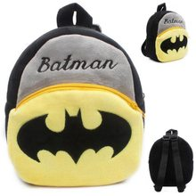 Cartoon Kids Plush Backpacks Mini School Bag Boy Schoolbag Batman Convenient Cute Soft Baby Bags format kids boy 16