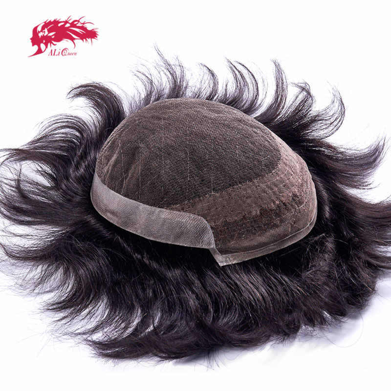 Ali Queen Hair French Lace With PU Mens Toupee Hair