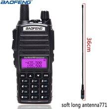 Baofeng UV 82 taşınabilir radyo UV82 5W Walkie Talkie VHF/UHF Dual Band Pofung UV 82 CB amatör amatör iki yönlü telsiz alıcı verici