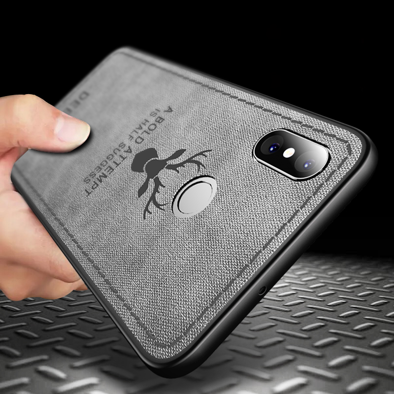 Full Protective Case For Xiaomi Mi 8 Mi8 Case Luxury Silicone Edge fabric Soft Back Case for Xiaomi Mi 8E cover Deer Pattern in Fitted Cases from Cellphones Telecommunications