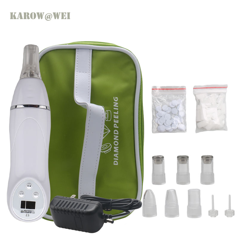 Diamond Personal Microderm System V Line Face remove Scars Acne Marks Skin Beauty Machine Dermabrasion Microdermabrasion silver 2016 new technology diamond microdermabrasion machine v line face remove scars acne marks skin beauty machine