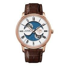 KAREBO Men Business Fluorescence Luminous Business Moon-Star Dial Automtatic Self-Wind Mechanical Wristwatch Watch