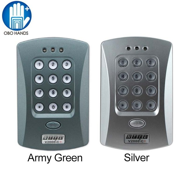 DC 12V Single Door Entry Access Control Keypad RFID Card Reader Access  Control Can Connect With
