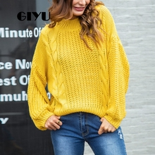 GIYU Solid Drop Shoulder Sweater Long Sleeve Sexy Hollow Out Casual Loose Sweaters Female Pullover sueter mujer invierno 2019 solid drop shoulder pullover