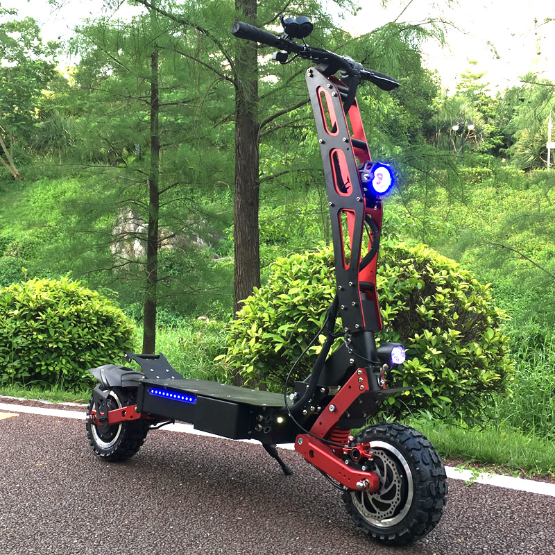 FLJ Newest Design Foldable Electric Scooter for Adults with 3200W motor wheel electric scooter off road fat tire kick Scooter 1