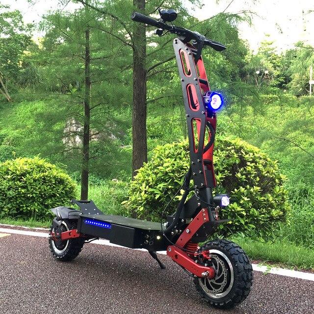 FLJ новейший дизайн складной электрический скутер для взрослых с 3200 Вт Мотор колеса электрический скутер внедорожный fat tire kick скутер