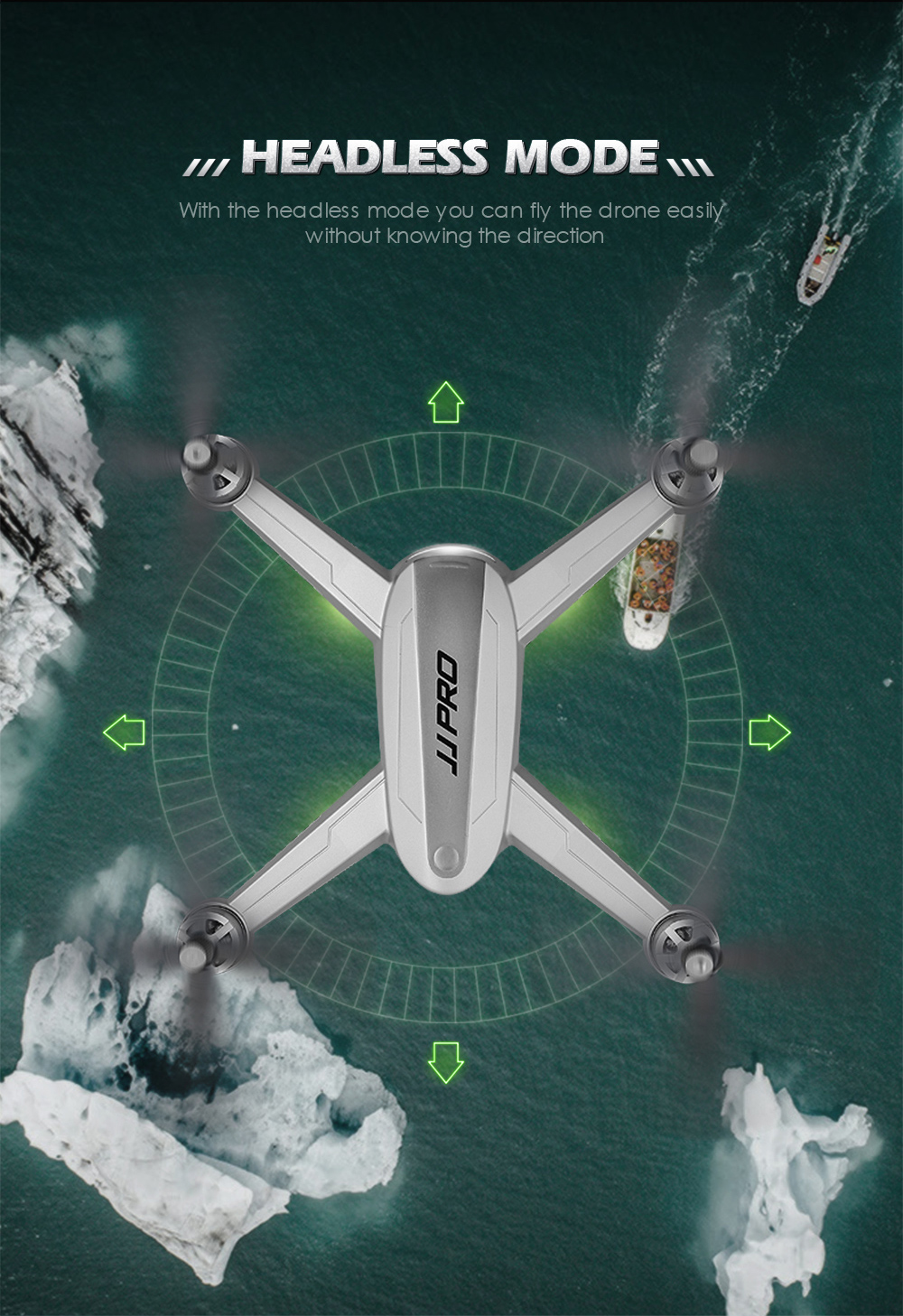 JJRC JJPRO X5 Professional Drone with Camera 1080P Brushless Motor High Hold Quadcopter Auto Follow GPS Positioning Fly  Mins 11