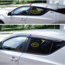 Lapetus Window Visors Awnings Wind Sunny Rain Deflector Guard Streamer Molding Protection Kit For Toyota C-HR CHR 2016 - 2019 window deflector for mitsubishi pajero 4 2007 rain deflector dirt protection car styling decoration accessories molding