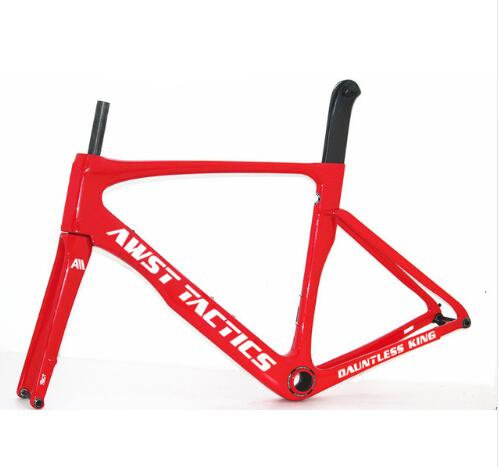 Thru-axle Version Front 142*12mm Rear 100*12mm Carbon Disc Brake Frame Glossy Red Color AWST Bicycle Carbon Frame Free Shipping