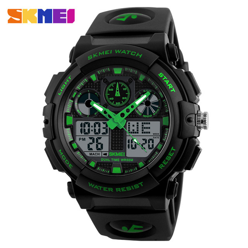 SKMEI Top Luxury Brand Shock Men Military Sports Watches Digital LED Quartz Wristwatches Rubber Strap Relogio Masculino Watch