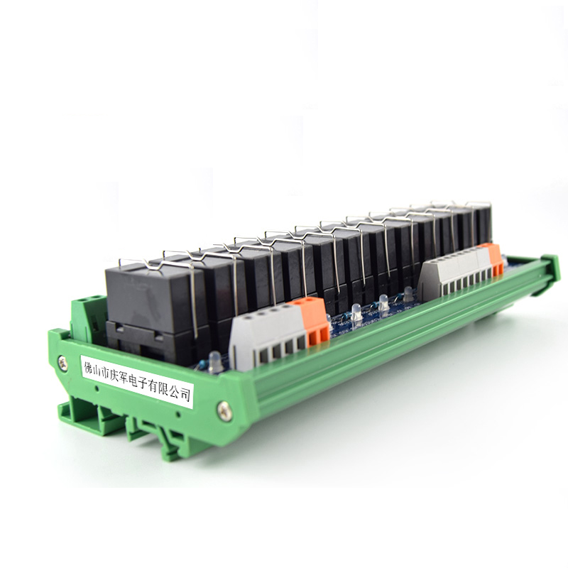 12-way original Omron relay single open module, 24V relay module compatible NPN/PNP