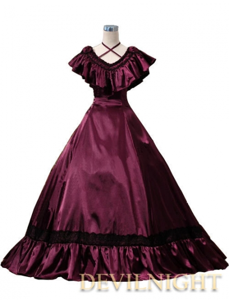 Aliexpress.com : Buy Wine Red Victorian Edwardian Belle Event Gown ...