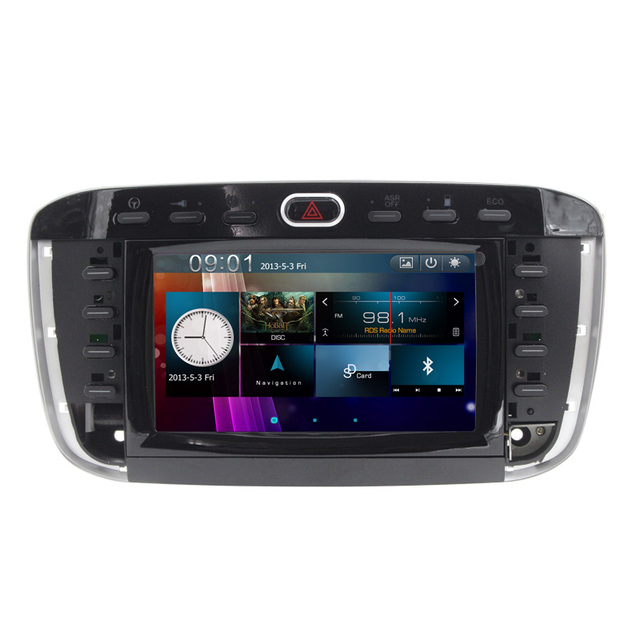 Car Radio CD DVD Player GPS Navigation Stereo For Fiat Punto / Abarth Punto EVO / For Fiat Linea 2012~2015 - Bluetooth ipod swc