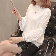 7082 (hall 8 no. 2) to film a new chiffon ice hemp lantern sleeve turtleneck sweater 52(China)