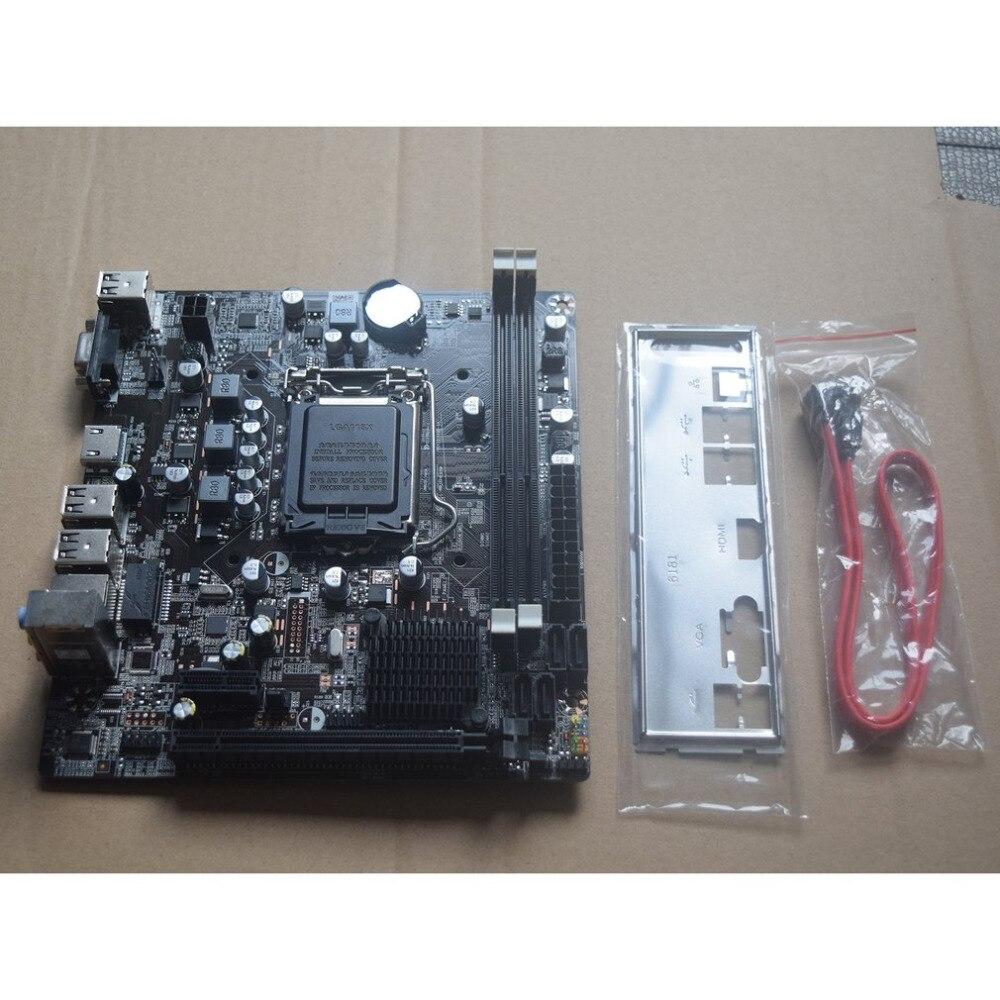 Ordinateur de bureau carte mère professionnelle carte mère CPU Interface LGA 1155 Durable SATA2.0 16 GB 2 x DDR3 DIMMs avec Intel B75
