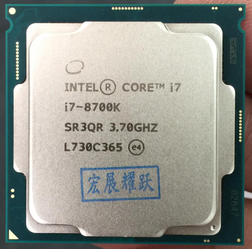 Intel Core 8 series PC Computer Desktop Processor I7 8700K I7-8700K processor CPU LGA1151 Six Core cpu getworth r35 high end gaming desktop computer desk i7 8700k 1060 240g ssd 8g ram z370 brand new red series pc water cooling