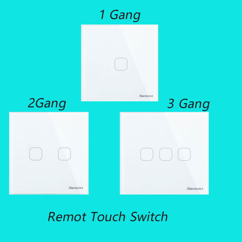 EU Wireless 1 2 3 Gang Wifi Light Switch,Smart Home Automation Mobile Remote Control Touch Panel Switch Via Broadlink  RM Pro eu 1gang smart home domotica remote control light switch wireless remote glass panel switch automatic touch screen lamp switch