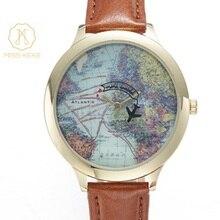 Женские часы браслет дамы мисс Кеке Мини карта мира кварцевые часы Кожа Дети Спортивные Наручные Часы Montre Femme