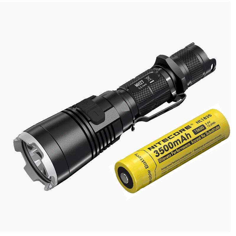 Rechargeable Flashlight NITECORE MH27 max.1000LM beam distance 462meter Multitask Torch Tactical light + 18650 3500mAh battery nitecore mh27 rechargeable flashlight max 1000 lumen beam distance 462 meters waterproof aluminum light multitask torch