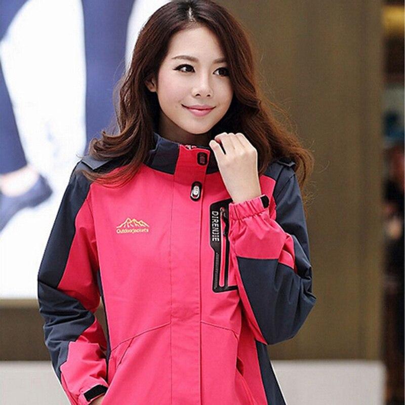 Femmes en plein air Softshell vestes printemps automne imperméable randonnée manteaux coupe-vent thermique Sports Camping Ski vestes - 2