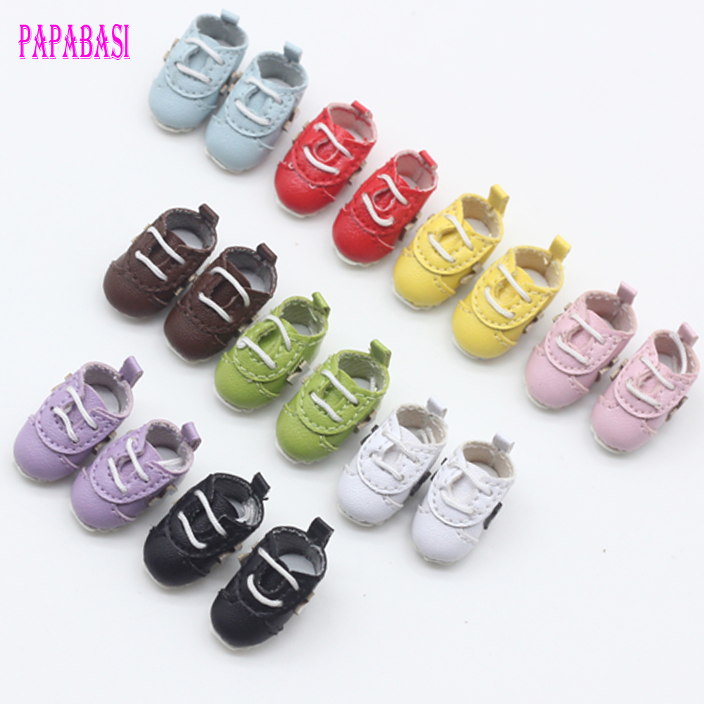 1 Pair 2.3cm Fashion Sport Shoes for Blyth, Azone, OB, Licca, Momoko 1/6 Doll Accessories handmade leopard doll shoes doll accessories for blythe licca azone dal momoko lati jb toys girl play house free shipping