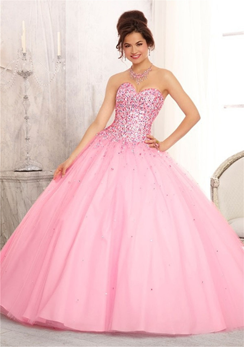 Sweetheart Off The Shoulder Beaded Fashion Quinceanera Dresses Debut ...