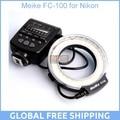 Meike fc-100 para nikon, fc-100 macro anillo flash/luz para nikon d7100 d7000 d5200 d5100 d5000 d3200 d310