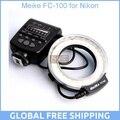 Meike fc-100 para nikon, fc-100 macro ring flash/luz para nikon d7100 d7000 d5200 d5100 d5000 d3200 d310
