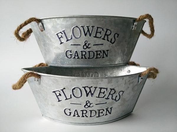 Very best 10Pcs/Lot American Vintage oval shape Metal Planter Pot Pure white  AN03