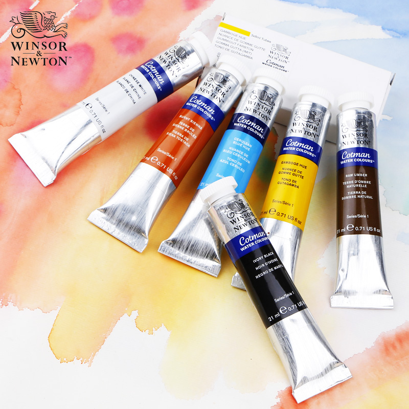 Watercolor Paint, Solid Tube, Transparent Water Color Single 8mlPintura Gouache Watercolour Professional Paints