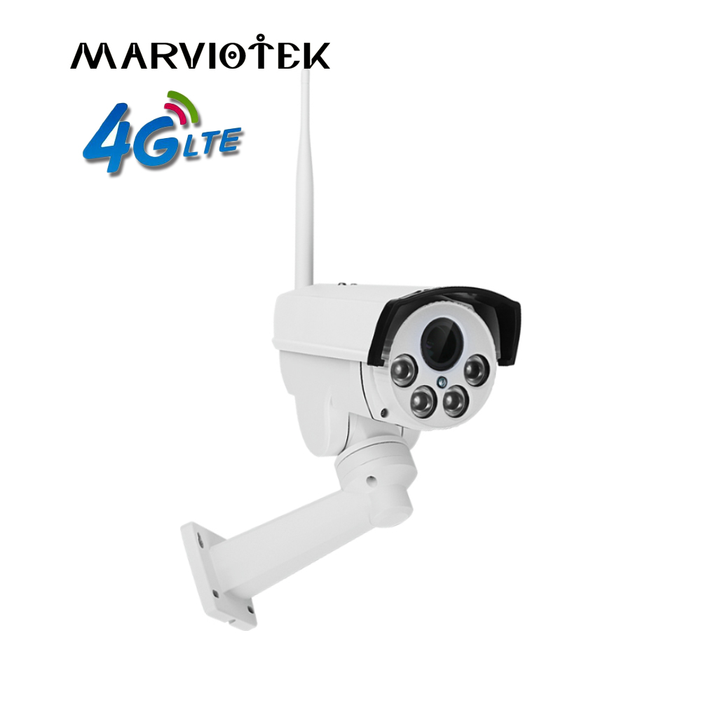 все цены на 960P 3G 4G SIM Card IP Camera Outdoor PTZ 1080P HD Bullet Camera Wireless 4X Zoom Pan Tilt Video Surveillance Mini Camera IR онлайн