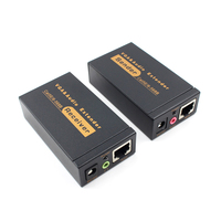 100M 328ft VGA Video Audio Extender Over Single RJ45 CAT5e/6 1080P Extension adpater Lightning protection