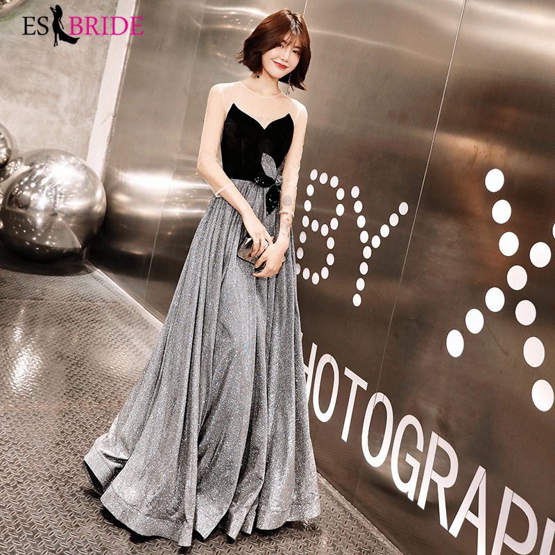 Formal Evening Vestidos De Fiesta De Noche Black Strapless Evening Dresses Real Photo Evening Dress 2019 Robe De Soiree ES2467