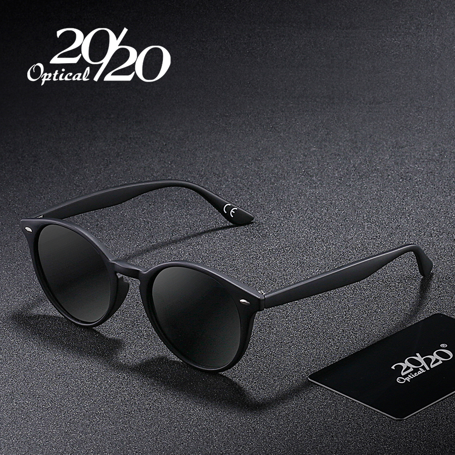 20/20 Brnad New Classic Polarized Sunglasses Men Driving Round Rivet Eyewear Male Sun Glasses Oculos 4 Colors PL304