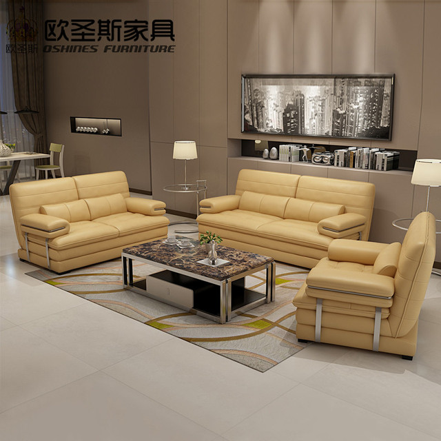 2017 New Design Italy Modern Leather Sofa Soft