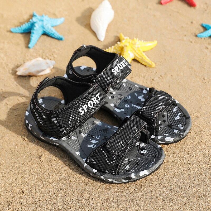 Fires New Summer Men Sandals Brand High Quality Soft Beach Sandals Men Fashion Outdoor Flat Sandals Camouflage Leisure Shoes