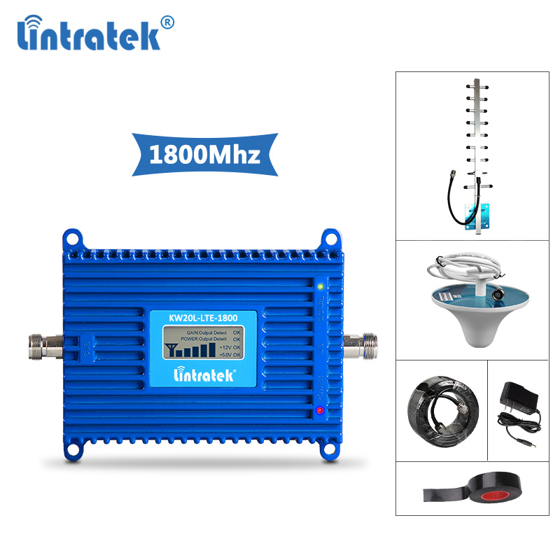 Lintratek 4G Repeater 1800Mhz Signal Booster 4G LTE GSM 1800 Amplifier LTE Mobile Signal Repeater 2G 4G DCS Band 3 AGC 70dB @5Lintratek 4G Repeater 1800Mhz Signal Booster 4G LTE GSM 1800 Amplifier LTE Mobile Signal Repeater 2G 4G DCS Band 3 AGC 70dB @5