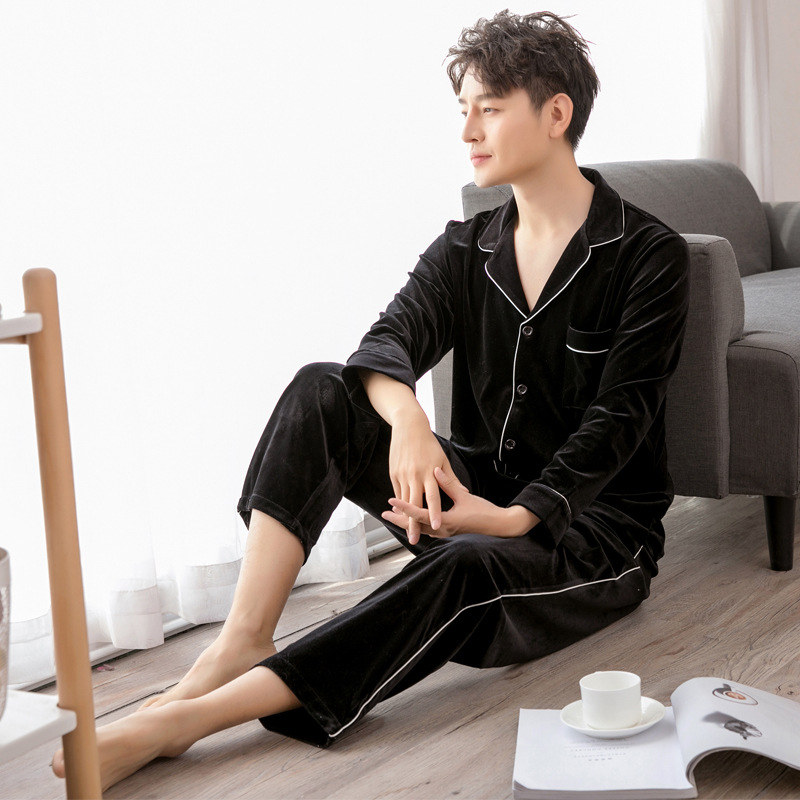 Velvet Lounge Pajamas For Men Pyjama Homme Pijama Hombre Pajama Set Sleepwear Men Winter/Spring/Autumn