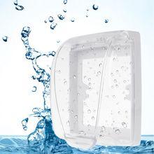Пластиковый настенный выключатель, водонепроницаемый чехол, настенный светильник, панель, розетка, дверной звонок, откидная крышка, прозрачный аксессуар для ванной, кухни
