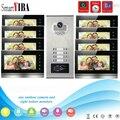 """SmartYIBA 7 """"Zoll Monitor Video Intercom türsprechanlage KIT RFID Access Türklingel Kamera Mit Sd karte Videoaufzeichnung 8 Wohnung-in Videosprechanlage aus Sicherheit und Schutz bei"""