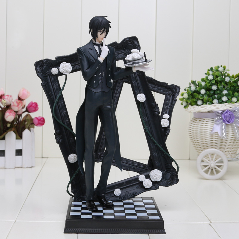 25cm Black Butler Book Of Circus Sebastian Michaelis PVC Action Figure Collectible Model Toy vic полусапоги и высокие ботинки