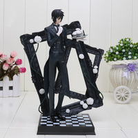 25cm Black Butler Book Of Circus Sebastian Michaelis PVC Action Figure Collectible Model Toy