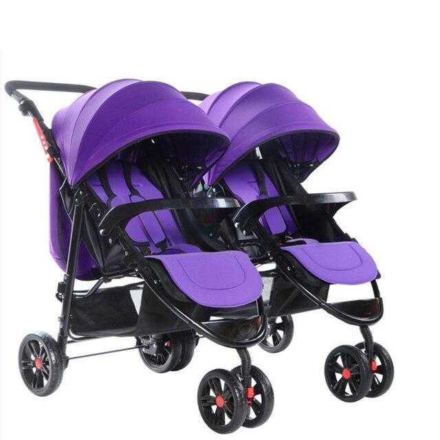 Twin kinderwagens afneembare twin drieling meerdere vouwen twin kinderwagens 1