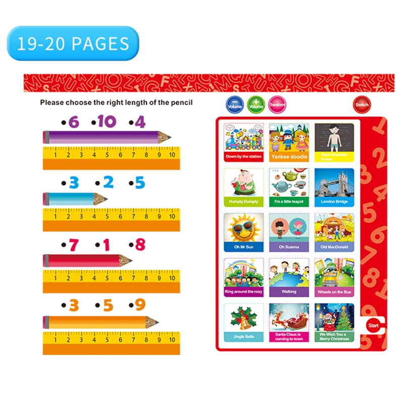 Kids Learning Book English Letter Numbers Smart Logic Voice Book Educational Electronic Toys YJS Dropship in Learning Machines from Toys Hobbies
