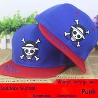 Anime One Piece Skull Head cotton baseball cap Sun hat cosplay gift Hip-hop 2015 NEW FASHION